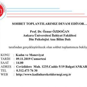"""Prof. Dr. Öznur Özdoğan ile """"Kadın ve Maneviyat"""