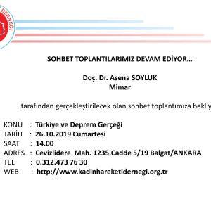 """Doç. Dr. Asena Soyluk ile """"Türkiye ve Deprem"""